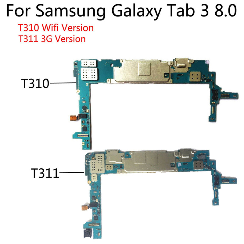 Tested Full Work Unlocked Mainboard For Samsung Tab 3 8.0 T310 T311 3G + WIFI Motherboard Phone Circuit Electronic Panel Flex image