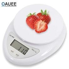 Oauee Portable 5kg Balance numérique LCD balances électroniques Steelyard cuisine balances Postal Balance alimentaire mesure poids Balance