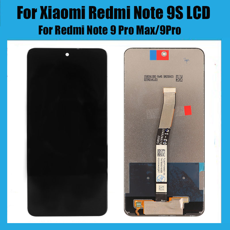 For Xiaomi Redmi Note 9S LCD Display Screen+Touch Screen Digitizer With Frame For Redmi Note 9 Pro Max/9Pro|Mobile Phone LCD Screens| - AliExpress