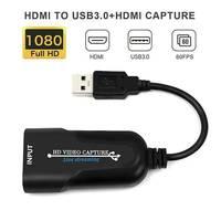 1080p 4k hdmi para usb 3.0 jogo de placa de captura de vídeo streaming ao vivo de vídeo de áudio