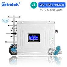 Lintratek GSM 900 1800 2100 מגבר אות 2g 3g 4g WCDMA UMTS 3G DCS 4G LTE אינטרנט מגבר נייד טלפון משחזר קיט