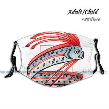 Oarfish Anti Pollution Dust Face Mask Washable And Reusable Pm2.5 Black Mask Oarfish Deep Sea Fish Fish Marine Biology Copic image