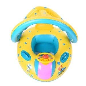 Bebé niños verano piscina natación anillo inflable Swan natación flotador agua diversión piscina juguetes natación anillo asiento barco deporte para 3-6Yea