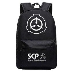 SCP procédures de confinement spéciales fond de teint sac à dos noir Anime sacs Cosplay enfants adolescents sacs d'école à bandoulière
