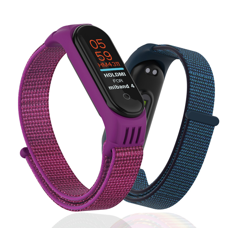 Nylon Loop Replaceable WristStrap For Xiaomi Mi Band 4 3 Sports Watch Band Breathable Strap For Xiaomi Miband 3 4 Smart Watch