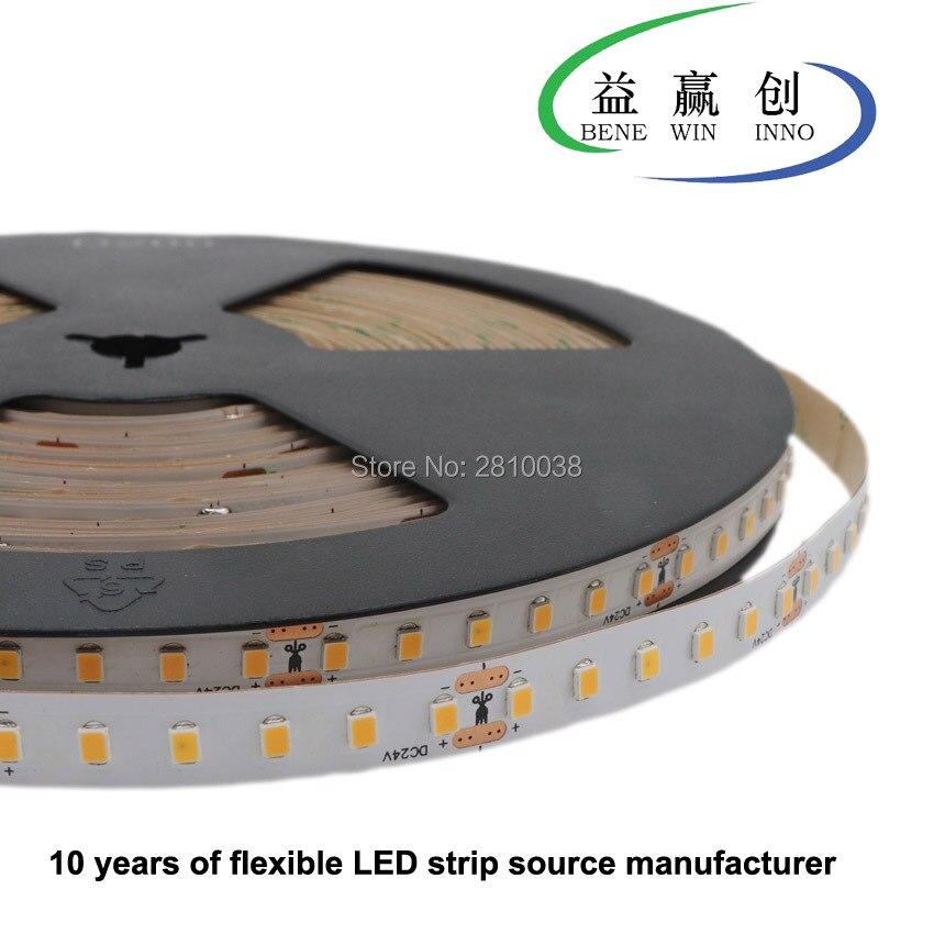 120 м/лот DC 24 в постоянный ток встроенный IC гибкие светодиодные ленты SMD2835 12 мм Широкий светодиодный светильник 120 светодиодов/м светодиодный светильник 14,4 Вт