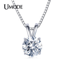 UMODE Brand Best Quality Hearts&Arrows CZ Diamond Pendant Necklace For Women Wedding/Party Jewelry Necklaces & Pendants AUN0047