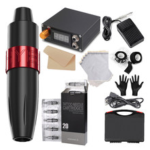 Rotary Tattoo Pen Set Ares Tattoo High Speed Powerful Motor 20 Syringes Full Set Of Accessories Tattoo Accesories Artist Set
