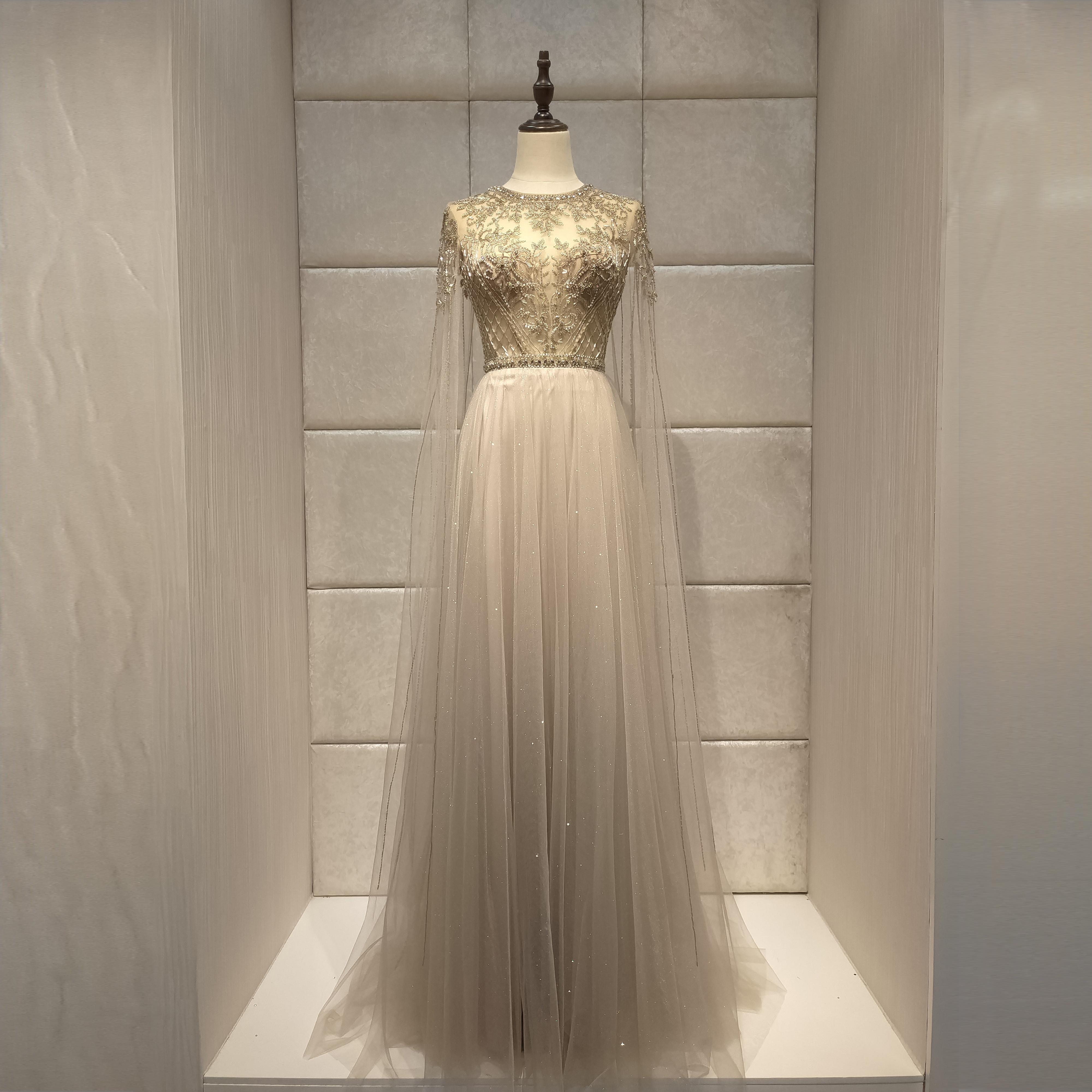 Luxurious 2019new Cloak Evening Dress  Abiye Robe De Soiree  Dress Party