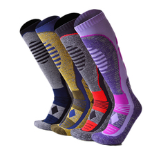 Winter Skiing Socks Calf-length Thick Cotton Thermal Sports Socks Men Women Outdoor Hiking Bottom Towel Snowboard Sock EU 40-43 men outdoor sportswear winter socks thick towel bottom skiing socks protect ankle hiking walking athletic keep warm sports socks