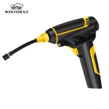 WINTUWAY автомобильный надувной насос usb зарядка беспроводной и прикуриватель ручной Электрический цифровой автомобильный воздушный компрессор насос