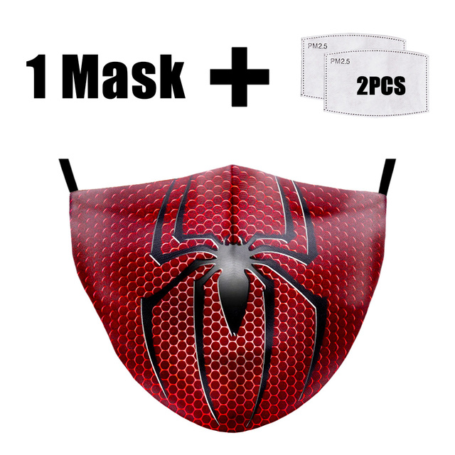 PM2.5 Filter Mouth Masks Washable Batman 3D Printing Masks Fabric Face Masks Reusable PM2.5 Dust Proof Flu Bacteria Face Mask 1