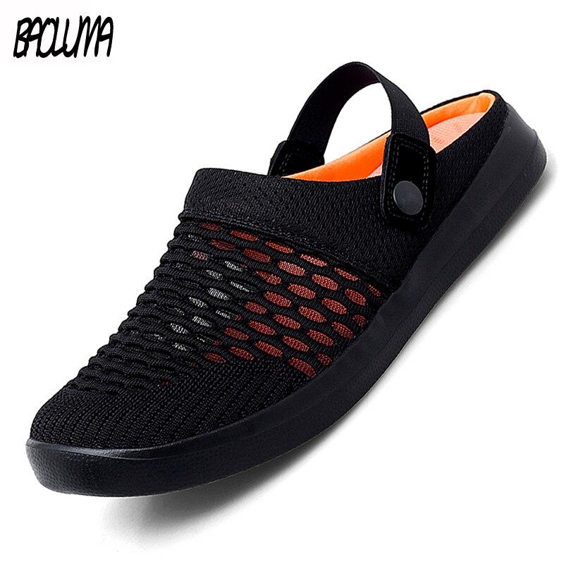 Hot Sale Summer Men's Sandals Fashion Men's Beach Sandals Summer Comfortable Mesh Men's Shoes Outdoor Men's Wading Shoes 36-46