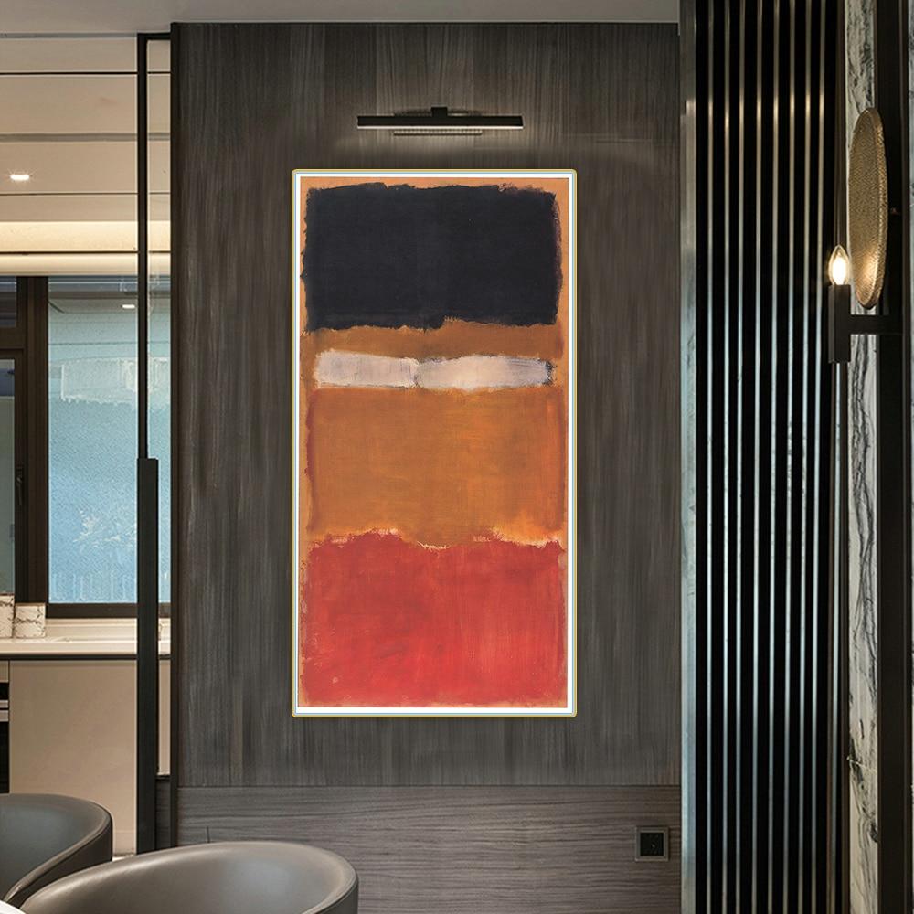 Абстрактная картина головера Марка Ротко № 24 (без названия), живопись маслом на холсте, цветовая гамма, художественное искусство, настенное ...