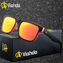 Viahda Classic Fashion Polarized Sunglasses Men/Women Colorful Reflective Coating Lens Eyewear Accessories Sun Glasses