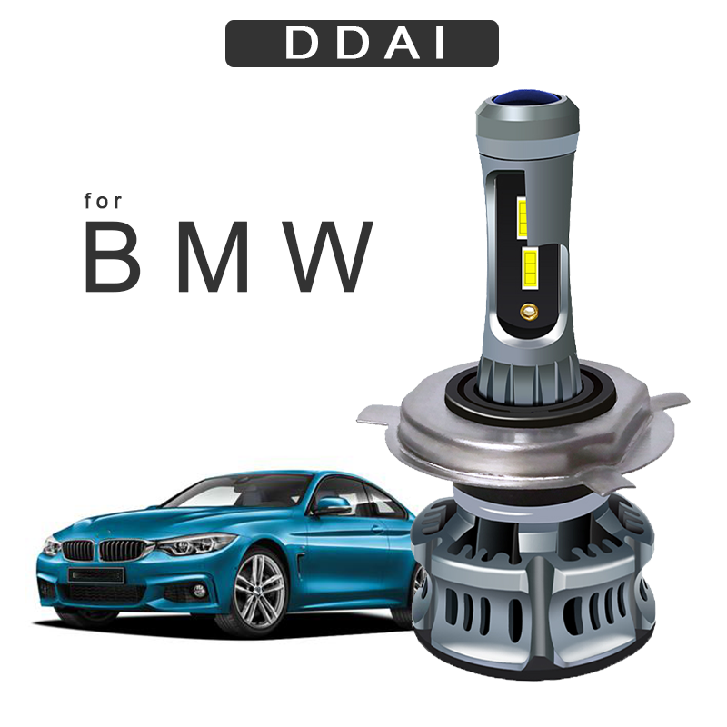 DDAI Super Bright <font><b>H7</b></font> <font><b>LED</b></font> H4 Auto Car <font><b>Headlight</b></font> <font><b>LED</b></font> <font><b>for</b></font> <font><b>bmw</b></font> e46 e80 <font><b>e90</b></font> 60W 6500K Automobile Bulb CSP lamp Fog Light Bulb image