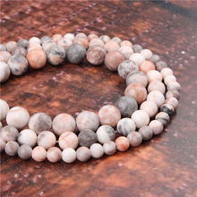 Fashion Pink Zebra Round Beads Loose Jewelry Stone 4/6/8/10 / 12mm Suitable For Making Jewelry DIY Bracelet Necklace