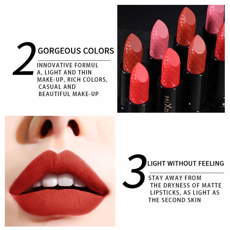MIXDAIR mat su geçirmez ruj dudak parlatıcısı uzun ömürlü dudak makyaj dudak tonu tüpler nem kozmetik güzellik çıplak dudaklar