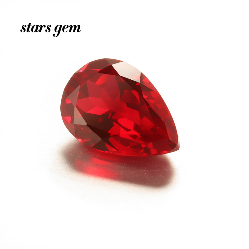 Pear Shape 8x5mm 1 Carat Lab Grown Ruby Gemstone for Jewelry Making