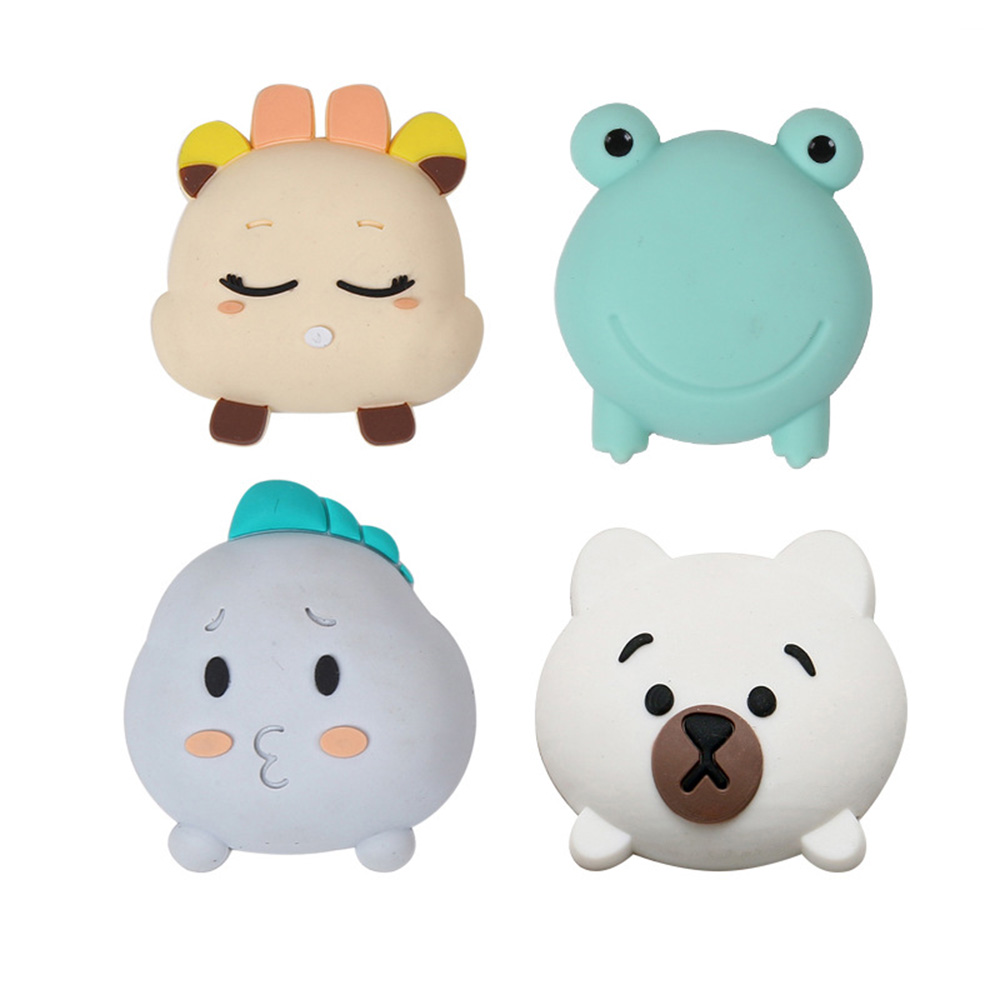 Household Cartoon Silicone Safe And Crash Pad Protection Wall Stickers Anti-collision Mute Doorknob Mats For Baby Safty