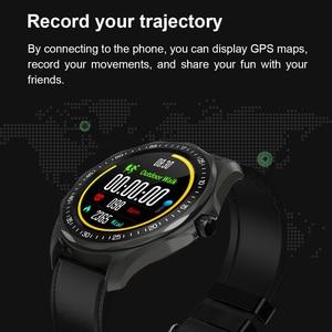 Image 4 - S09 ساعة ذكية IP68 مقاوم للماء الرجال مراقب معدل ضربات القلب ضغط الدم جهاز تعقب للياقة البدنية لتحديد المواقع خريطة Smartwatch ل أندرويد iOS