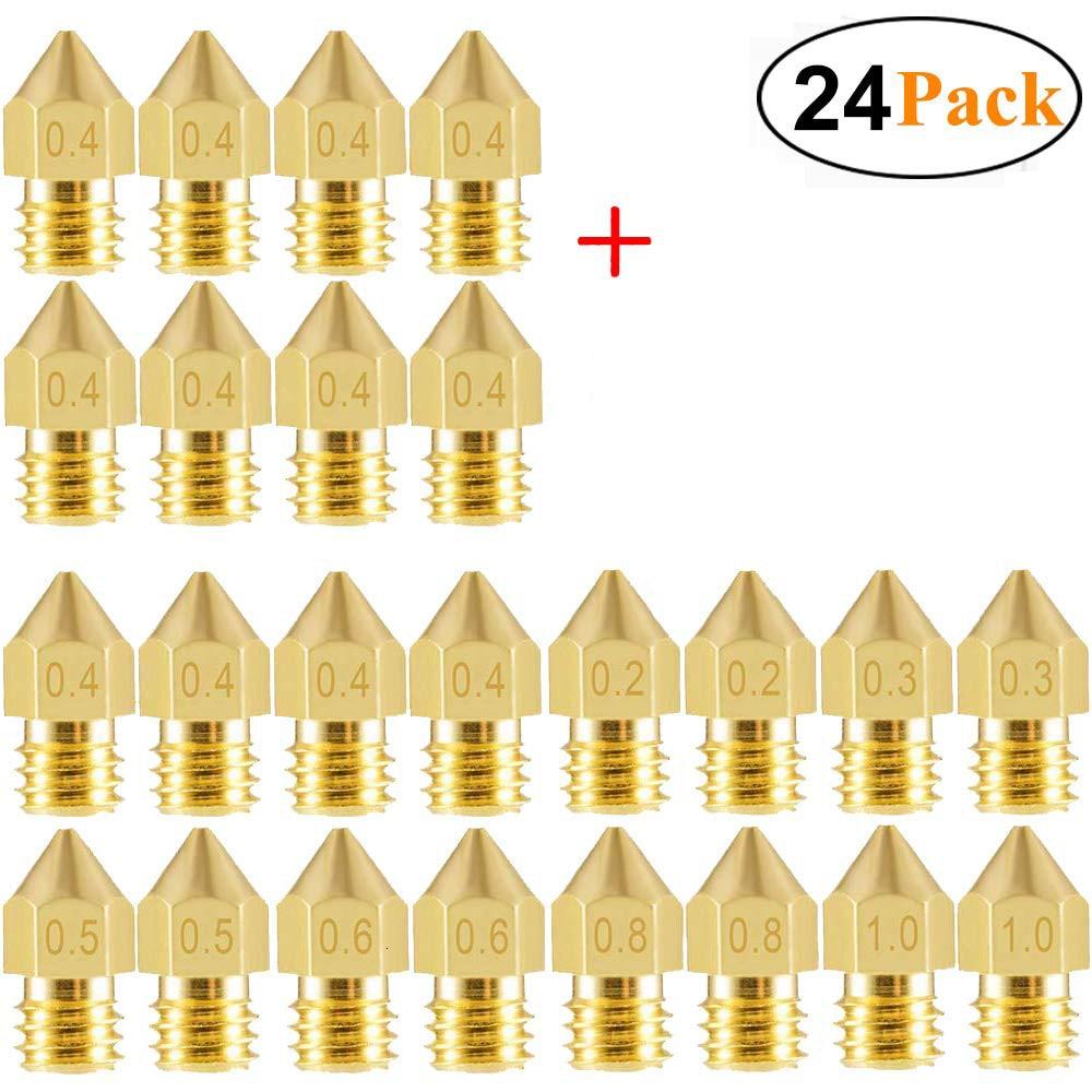 0.5mm 0.3mm 50pcs 0.4mm 0.6mm 22pcs//50pcs MK8 Extruder Nozzle,MK8 3D Printer Nozzles for 3D Printer Makerbot Creality CR-10,0.2mm 1.0mm Extruder Print Head 0.8mm