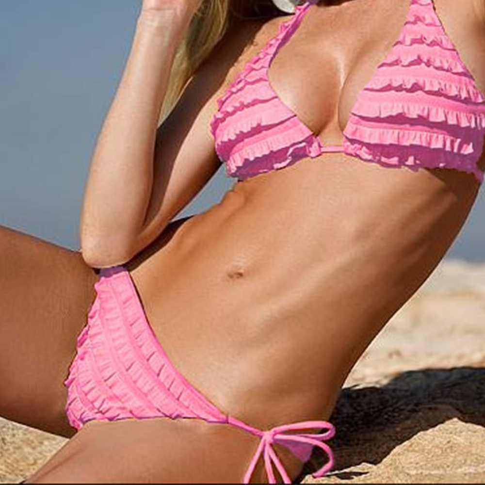 Womens Pleated Bikini Push-up Bikinis Swimwear Swimsuit Beachwear Bathing Suit Brazilian Biquinis Maillot De Bain Swim Summer