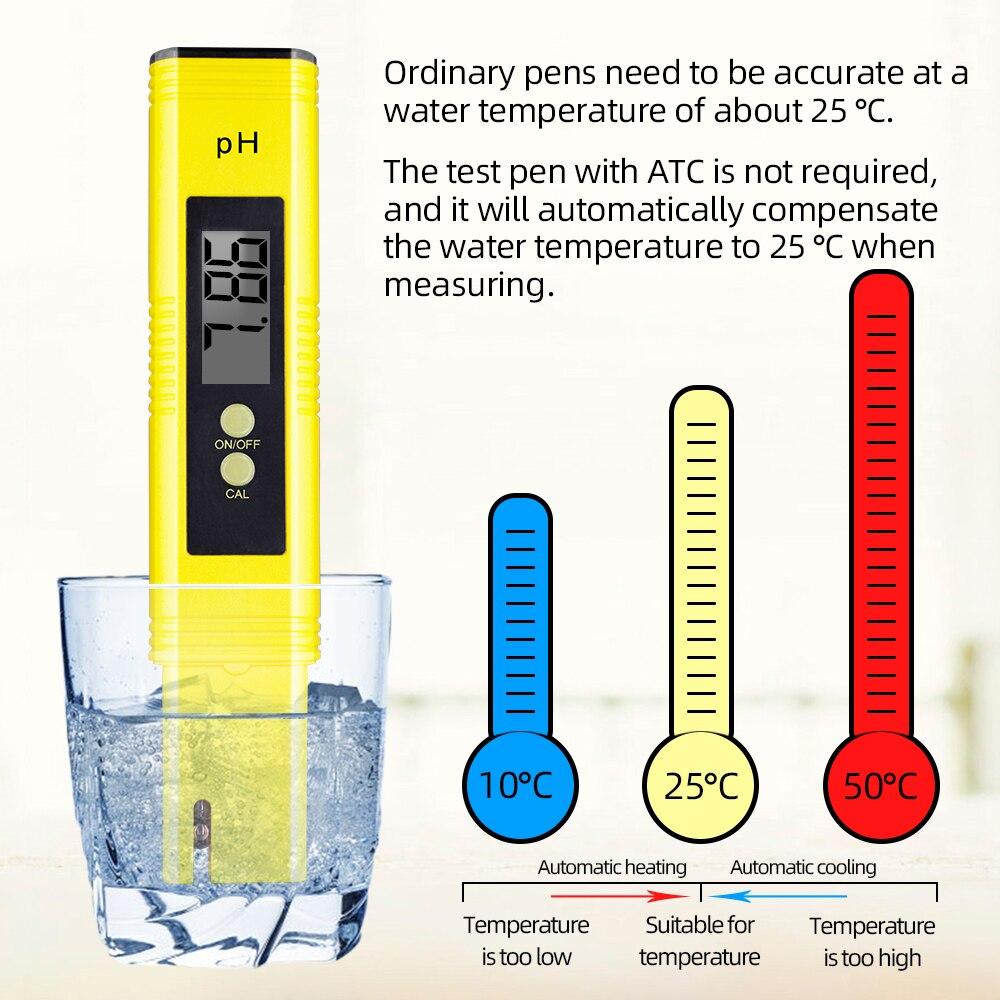10pcs/lot Digital LCD ph meter Aquarium Water Acid PH Tester with 0.01 atomatic caliration high precision 30%OFF