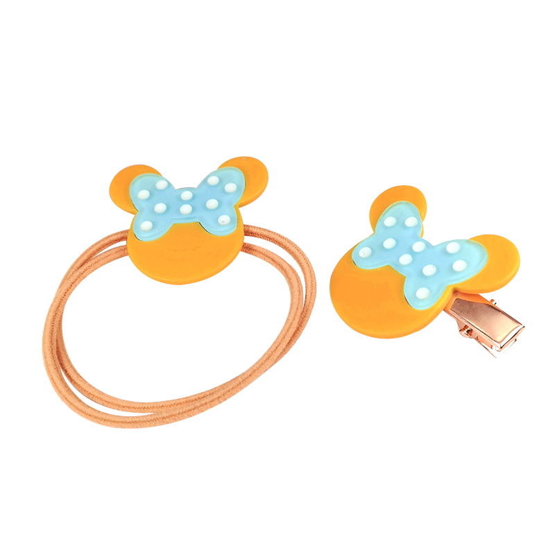 2pcs/lot Geometric Hair Accessories For Girls Kids Candy Color Matte Hair Clip Children mouse Hairpins Barrettes Headdress
