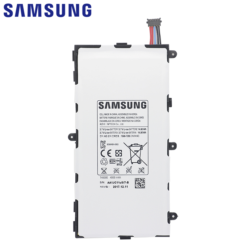 Image 2 - SAMSUNG Original Battery T4000E 4000mAh For Samsung Galaxy Tab 3 7.0 T211 T210 T215 T210R T217A SM T210R T2105 P3210 P3200-in Mobile Phone Batteries from Cellphones & Telecommunications on