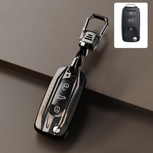 Image 1 - Funda para llave de coche, para Volkswagen VW Golf 3 4 5 6 mk4 mk6 Passat b5 b6 b7 b8 cc Polo Tiguan mk2 Touran Jetta 6 Bora mk6