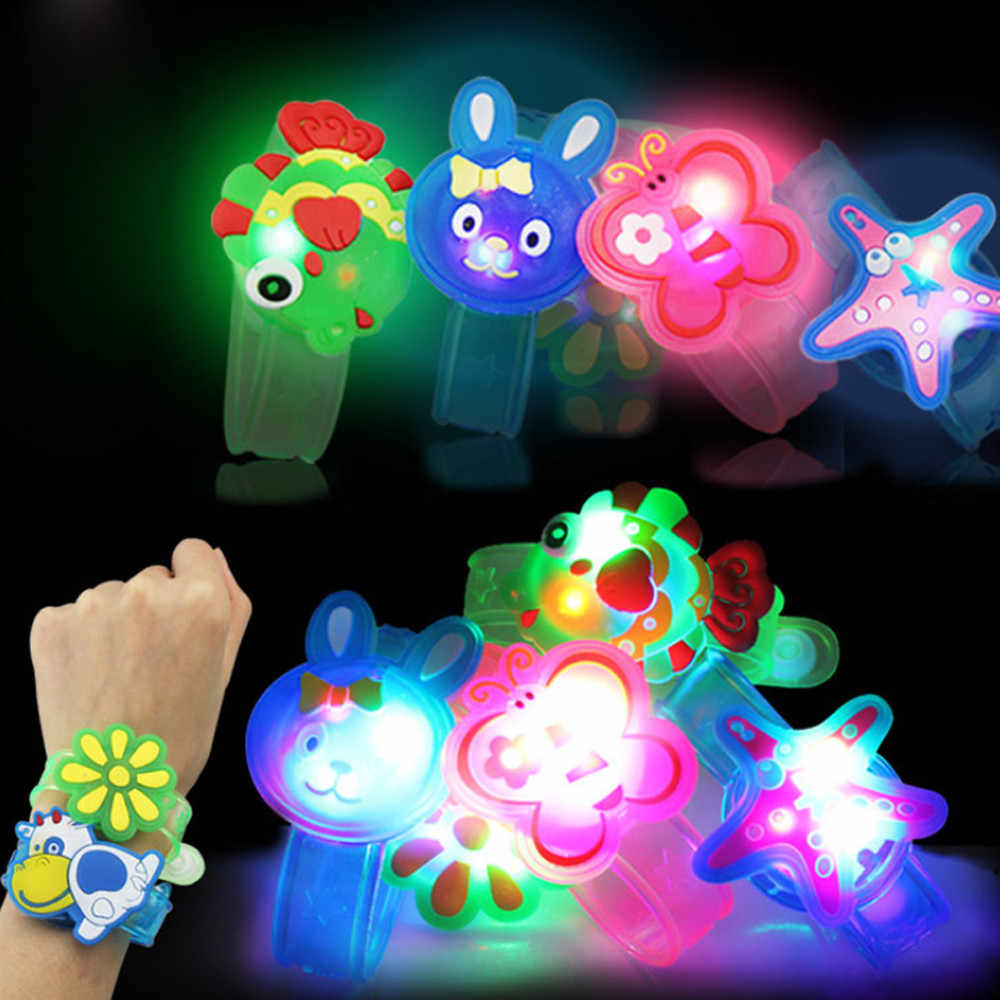 2019 New Year present for children Christmas Animal Claus Light Flash Toys Wrist Hand Take Dance Party Dinner Party dropshopper