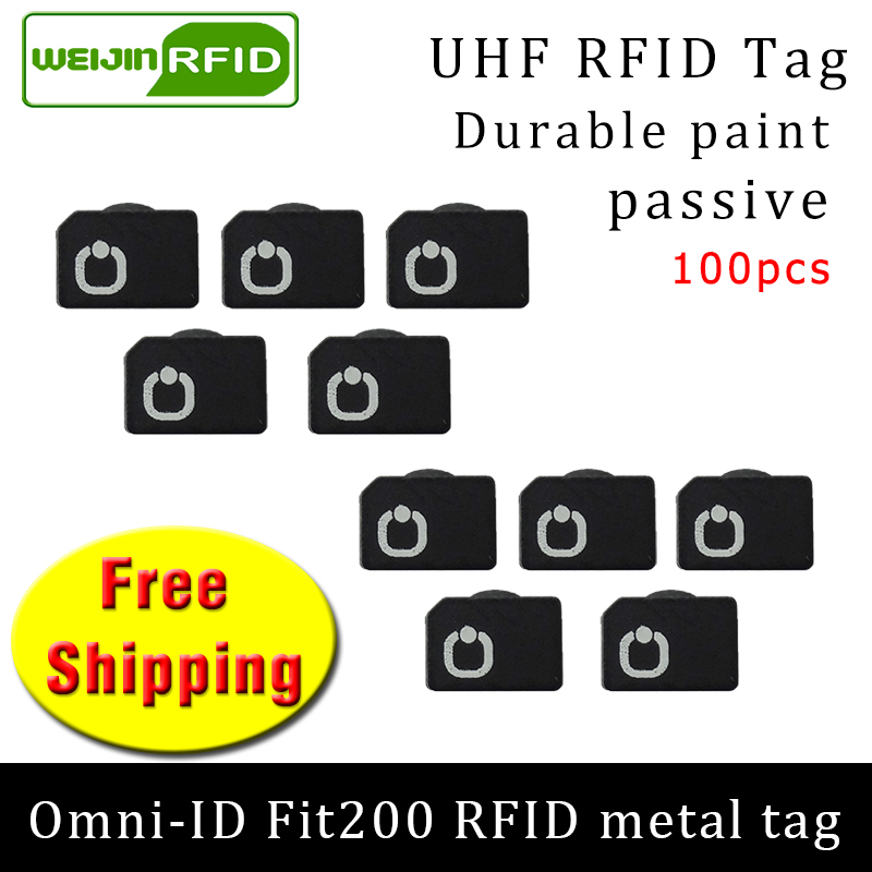 UHF RFID metal tag omni-ID Fit200 915m 868mhz Alien Higgs3 EPC 100pcs free shipping durable paint smart card passive RFID tags