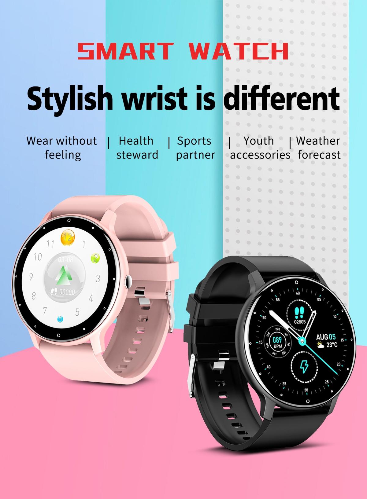 H0f59a0b7812a4d1b9604bcb68a371e50g LIGE 2021 Fashion Smart Watch Men Fitness Bracelet Heart Rate Blood Pressure Monitoring Sports Tracker Smartwatch Gift for Women