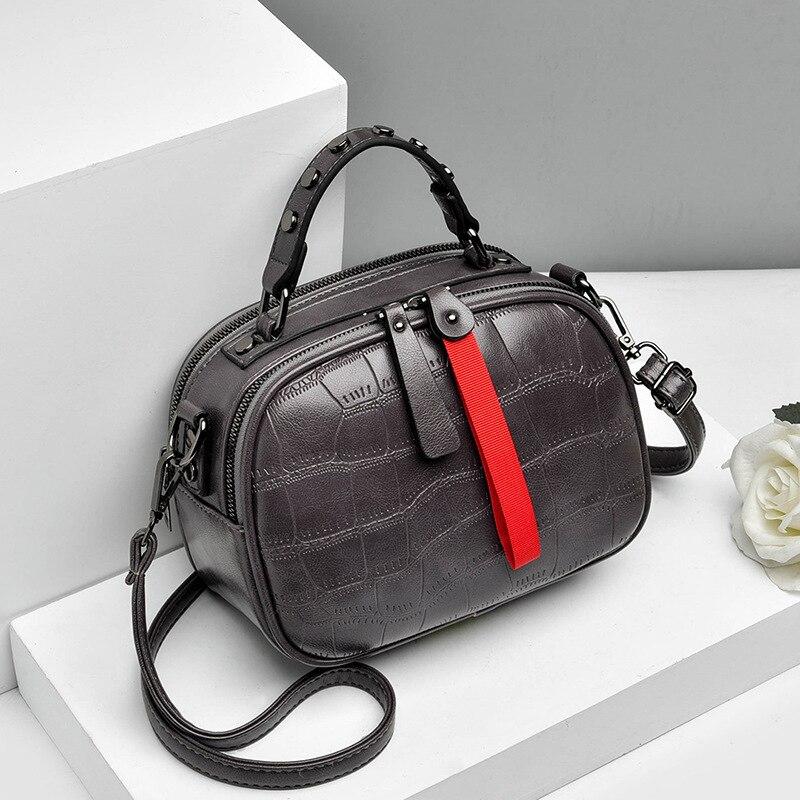 Image 5 - New 2019 Fashion Women Bag One shoulder Leather Handbags Korean Shoulder Bag Small Flap Crossbody Bags For Women Messenger BagsShoulder Bags   -