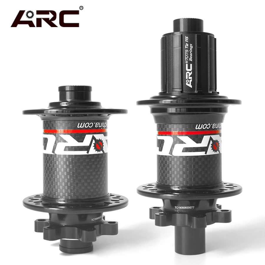 CARBON FRONT&REAR MTB MOUNTAIN BIKE <font><b>HUBS</b></font> 8 9 10 11 SPEED QR SKEWERS 135MM THRU 142MM <font><b>BICYCLE</b></font> WHEEL <font><b>HUB</b></font> 4 BEARING 6 PAWLS 32 <font><b>HOLE</b></font> image