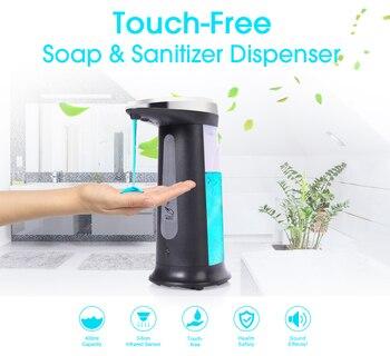 400Ml/250ML Automatic Liquid Soap Dispenser Automatic Foam Soap Dispenser Touchless IR Infrared Sanitizer Dispensador