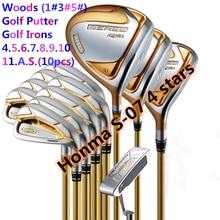 Набор для гольф клубов Honma Bere S 07, комплекты для гольф клубов с 4 звездами, драйверами + фарватером + утюгом для гольфа + клюшкой (14 шт. без сумки для гольфа), бесплатная доставка