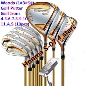 Image 1 - ゴルフクラブ完全なセット本間ベレS 07 4スターゴルフクラブセットドライバー + フェアウェイウッド + ゴルフアイアン + パター (14ピースなしゴルフバッグ) 送料無料