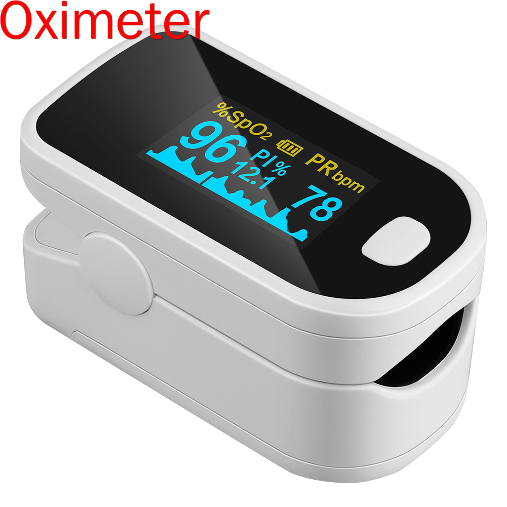 Finger Clip Pulse Oximeter Abs+Oled Color Led Display Heart Rate Monitor Electronic Medical Digital Pulse Oximeter
