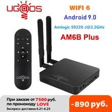 2021 UGOOS AM6B PLUS WiFi6 Smart TV Box Android 9.0 Amlogic S922X J 2.2GHz 4GB DDR4 32GB ROM 1000M Bluetooth 4K HD Set Top Box