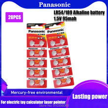 20 штук Panasonic AG10 LR1130 1130 SR1130 389A LR54 L1131 389A 1,55 v-образная Кнопка Батарея MP3 игроков, игрушки, часы щелочная батарея