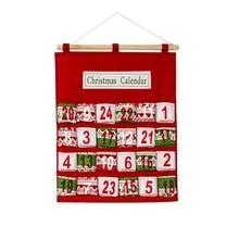 Рождественский календарь украшения креативный Печатный многослойный сумка для хранения конфет Рождественский обратный отсчет календарь сумка для хранения