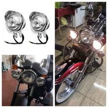 Faro antiniebla de 12v, luz Universal de cromo ABS para motocicleta, Faro LED para motocicleta, Faro para Moto