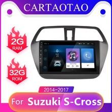 2 din Android 8 1 GO radio samochodowe dla Suzuki SX4-CROSS 2014-2017 android radio nawigacja gps wideo stereofoniczne multimedia WIFI player tanie tanio cartaotao CN (pochodzenie) Double Din 4*45W Jpeg Plastic + aluminum gold 1024*600 1 6kg Bluetooth Wbudowany gps Ładowarka