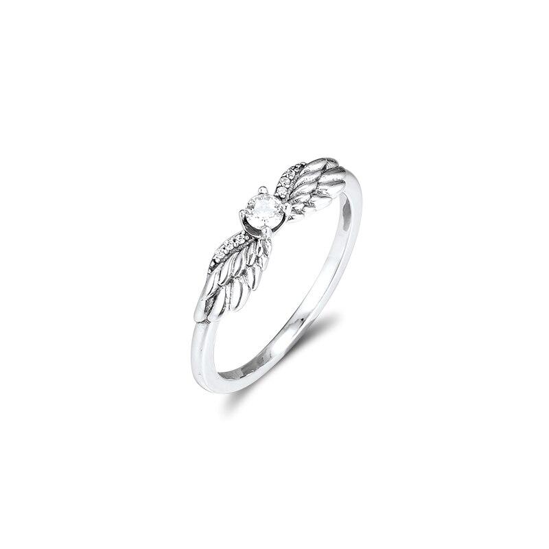 Кольцо CKK в виде ангельских крыльев, женское кольцо из стерлингового серебра 925 пробы, серебряные ювелирные изделия для свадьбы и Помолвки