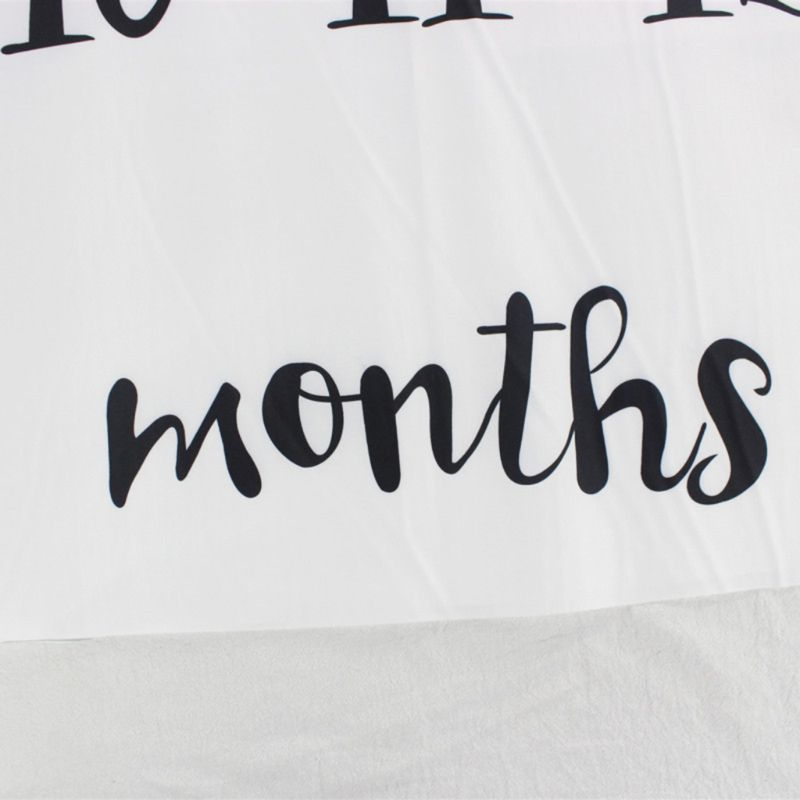 Nouveau-né bébé jalon numéro ballon motif tapis couverture photographie fond toile de fond tissu K1KC