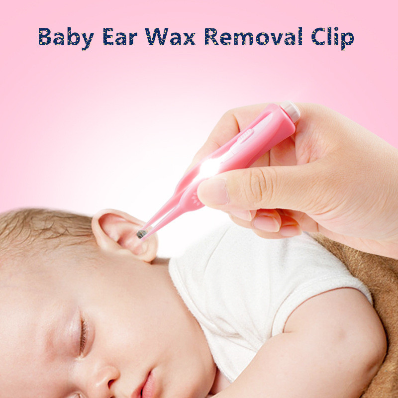 LED Light Ear Pick Ear Wax Removal Earpick Nose Clean Clip Baby Adults Nose Clean Tweezers Picks Wax Remover Ear Care Hot Sale