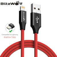 BlitzWolf MFI Für Blitz Kabel Für iPhone 0,9 m 1,8 m Handy USB Ladegerät Lade Datenkabel Für iPhone 11 X Max 8 iPad