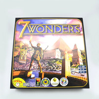 English 7wonders Board Game Solitaire friends family interactive Multi Colored Cards Strategy Toy
